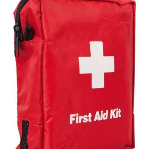 red first aid kit bag
