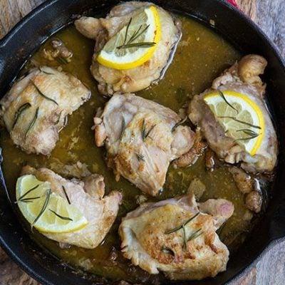 Better-Than-A-Restaurant Rosemary Lemon Butter Chicken