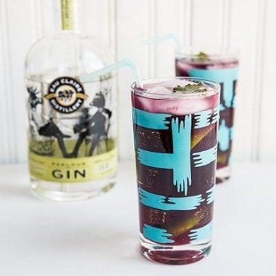 Blueberry Mint Gin Fizz