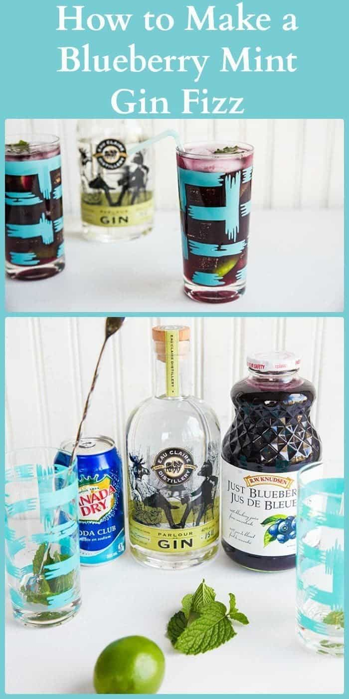 Blueberry Mint Gin Fizz - The Kitchen Magpie