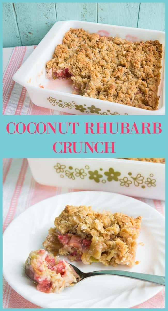 COCONUT RHUBARB CRUNCH