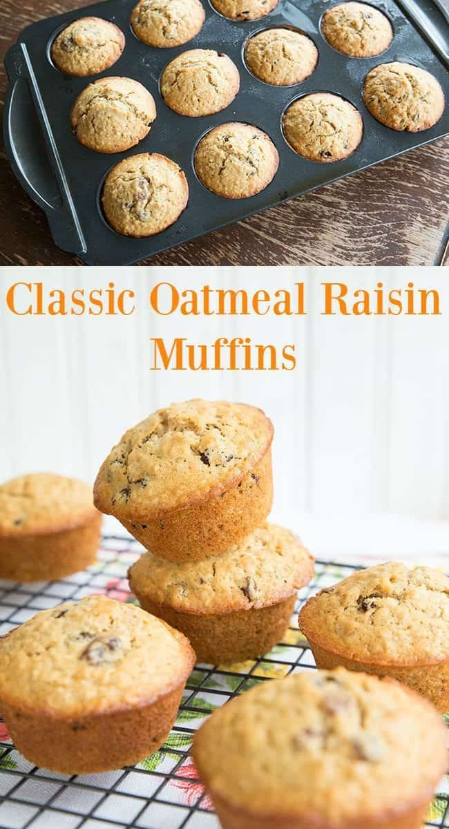 Fast, simple and delicious oatmeal raisin muffins. Sometimes the simplest flavours are still the best! #oatmeal #muffins #raisins