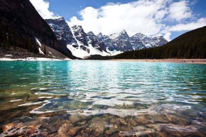 beautiful view of mountains and lake