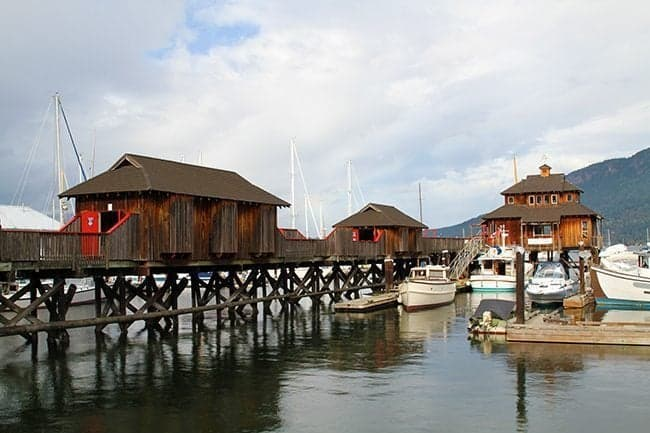 Cowichan Bay with the fishing village and bakery