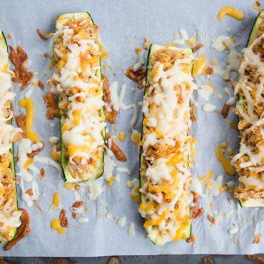Cheesy-Buffalo-Chicken-Zucchini-Boats