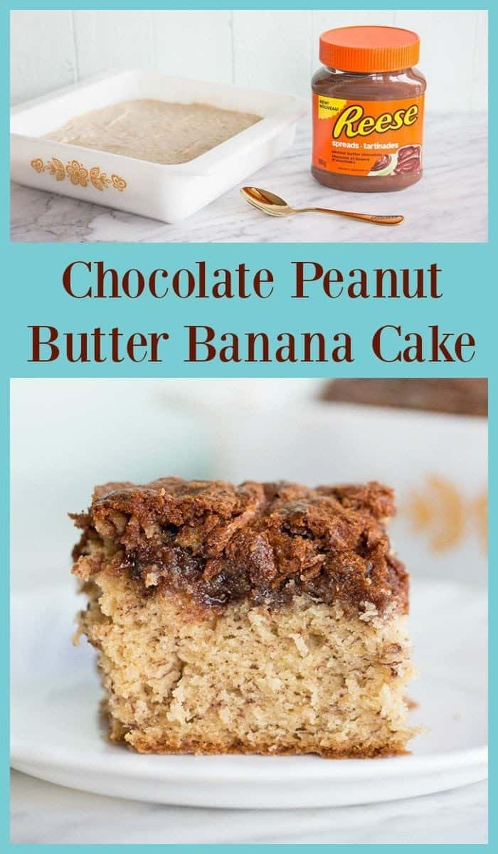 Chocolate Peanut Butter Banana Cake from @kitchenmagpie