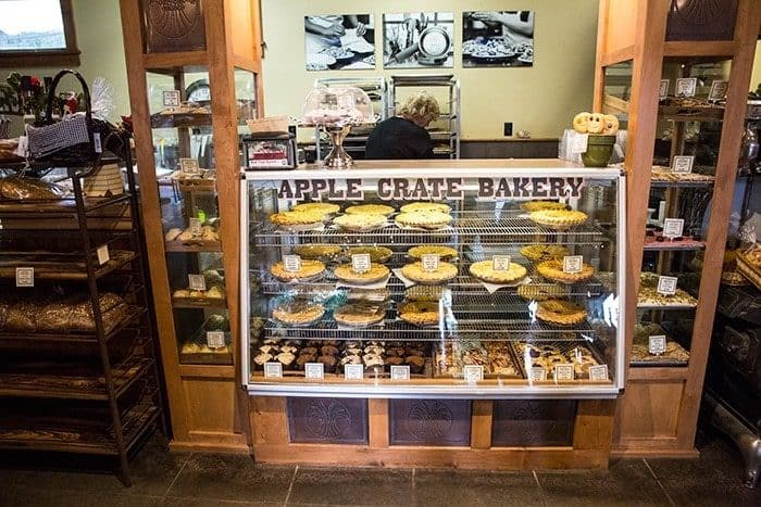 fresh pies in apple crate bakery