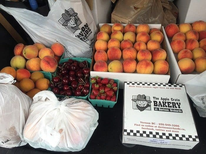 ton of fruit and goodies from Davison Orchards