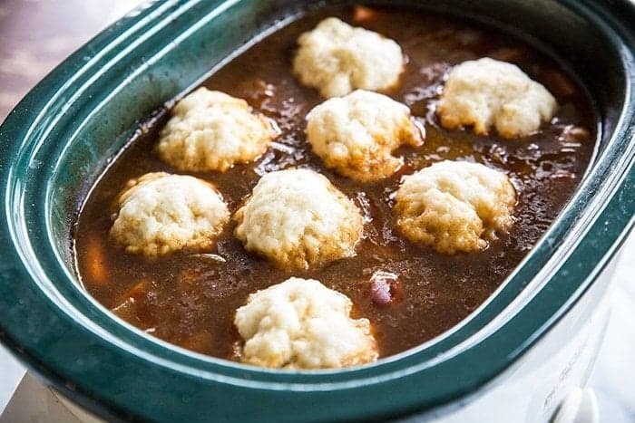 How to Make Slowcooker or Crockpot Dumplings from @kitchenmagpie