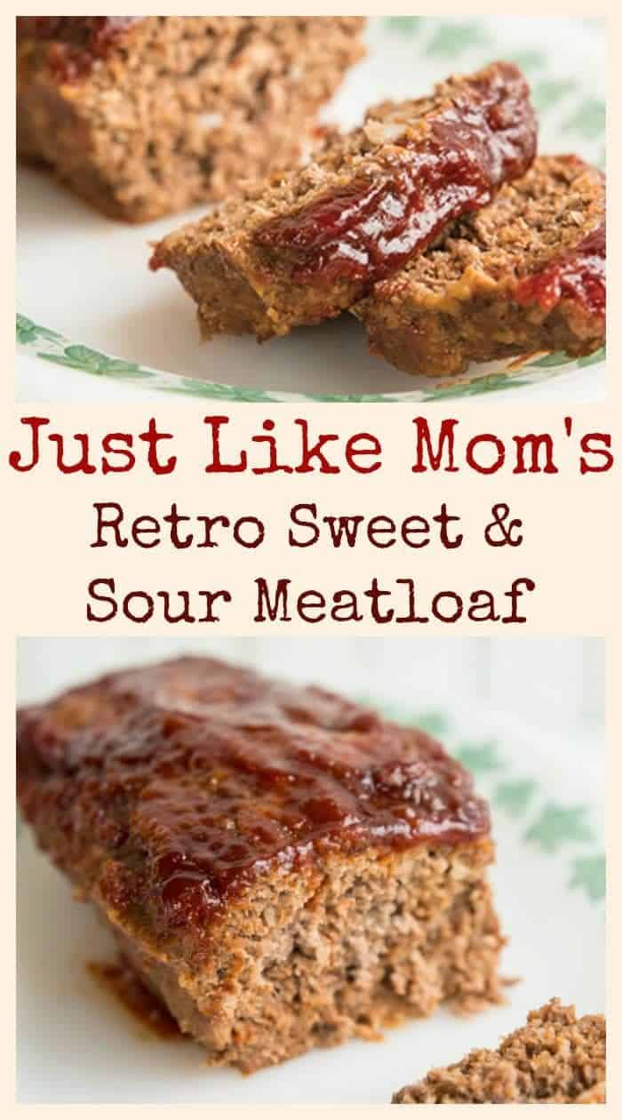 Sweet and Sour Meatloaf, just like mom used to make! #meatloaf
