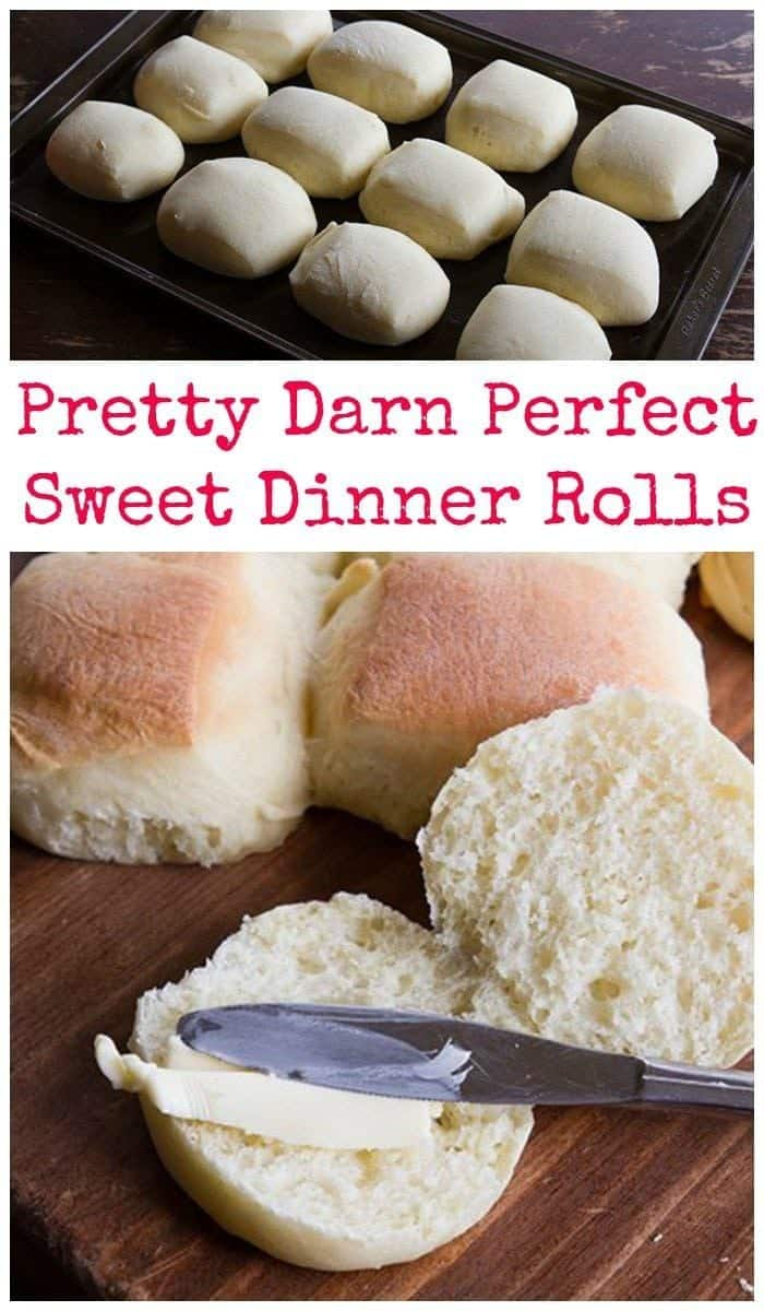 My favourite Sweet Dinner Rolls recipe is the perfect accompaniment to soups, stews and your holiday meals. Step by step photos make them easy as pie! #buns #baking