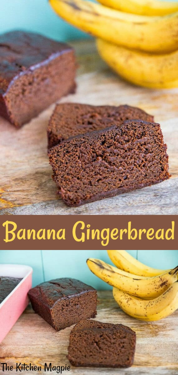 Use up your frozen bananas in a decadent banana gingerbread loaf for a new delicious twist on the old classic! #bananabread #gingerbread