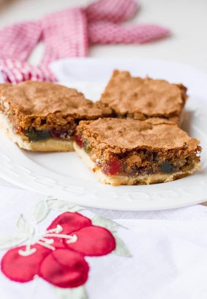 Walnut Cherry Slice Bars