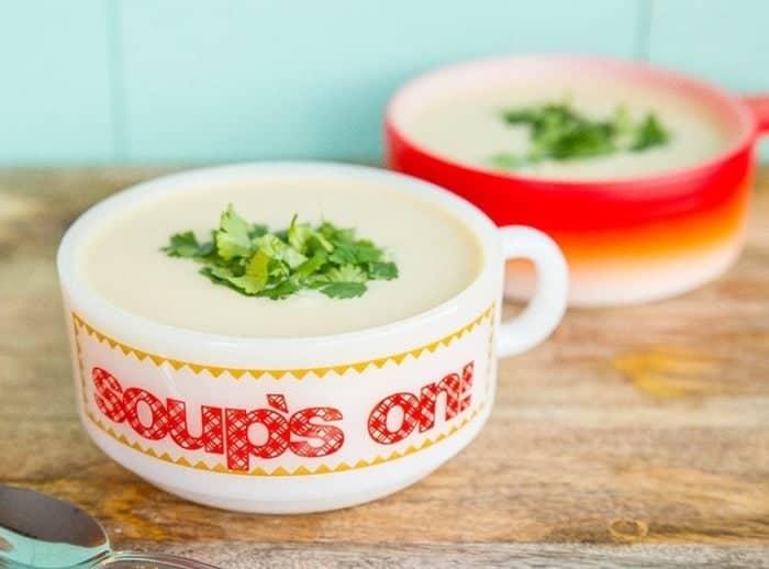 Easy Potato Leek Soup from @kitchenmagpie