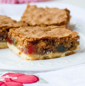 Walnut Cherry Slice Bars