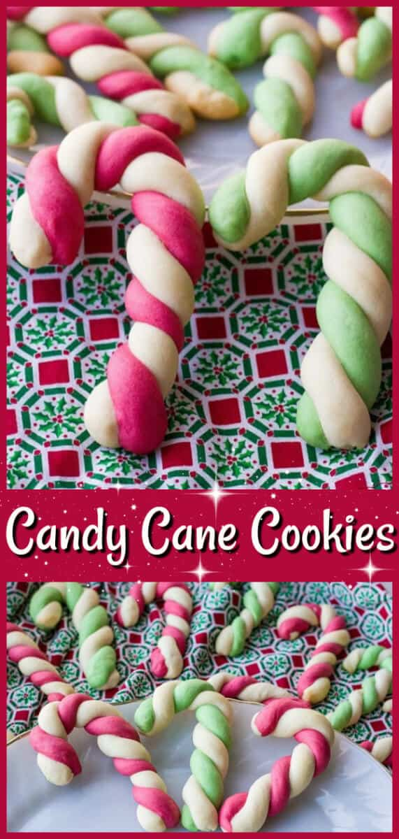 How to make delicious Candy Cane Cookies! These cookies have been around forever and are a classic Christmas cookie! #christmas #cookies