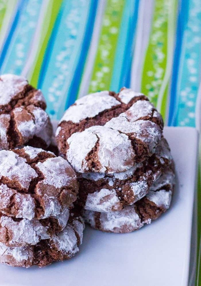 Chocolate Crinkle Cookies from @kitchenmagpie