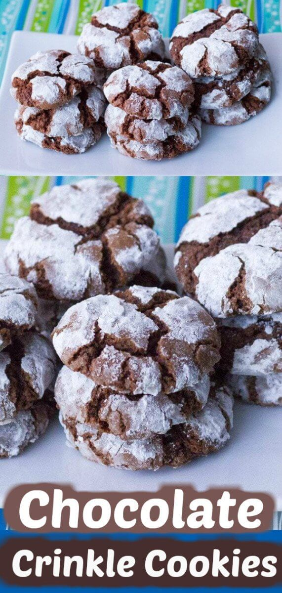 Nothing says old fashioned Christmas like a batch of chewy, decadent classic chocolate crinkle cookies! #cookies #christmascookies