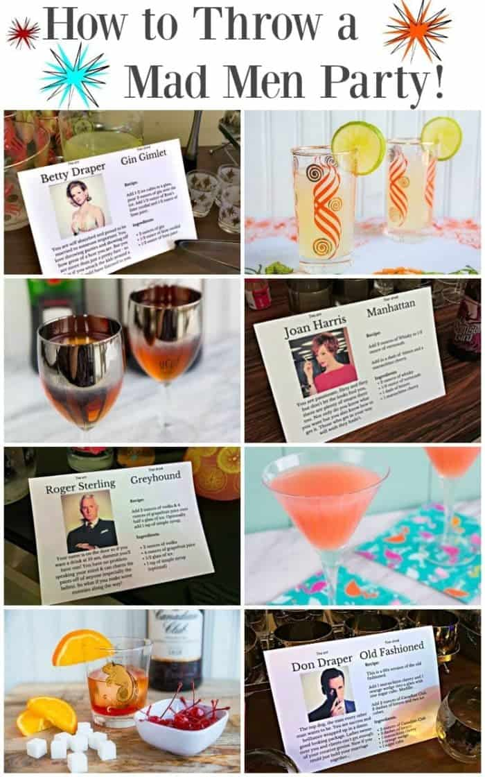 How to Throw a Mad Men Party - from cocktails to delicious food from the 1960's, here's everything you need to throw the ultimate retro party!