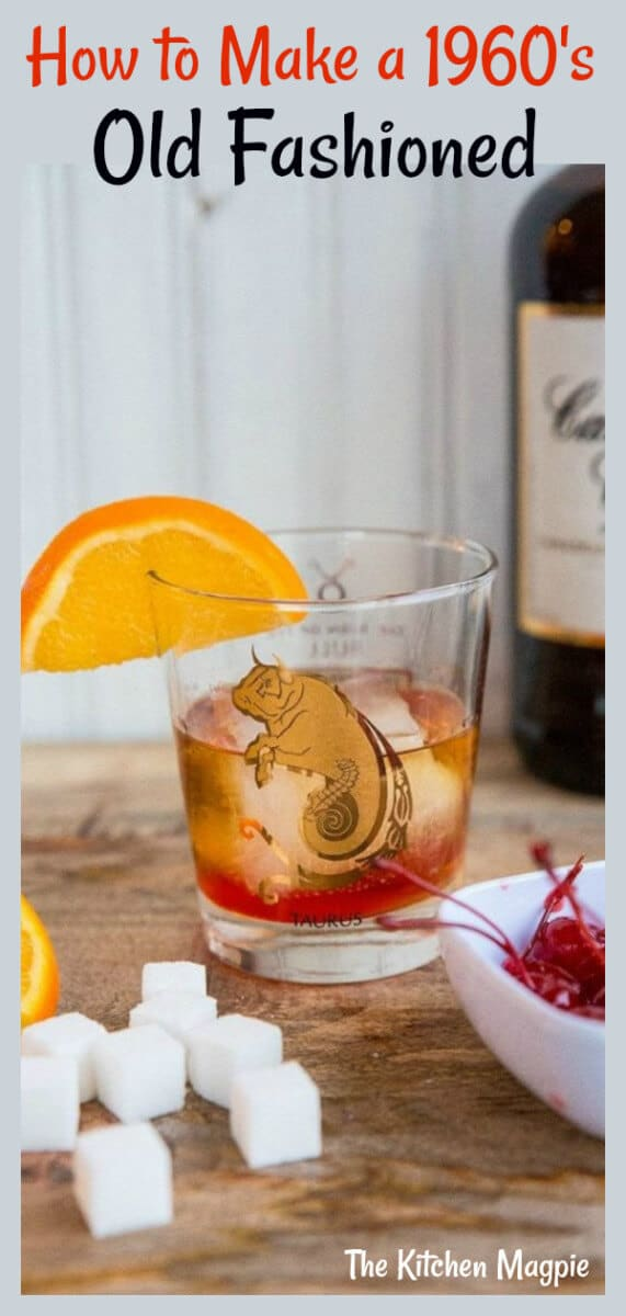 Get the perfect Old Fashioned Cocktail Recipe and learn how to make a 1960's Don Draper Old Fashioned Cocktail, the way Don would have liked it. #cocktail #whiskey #oldfashioned