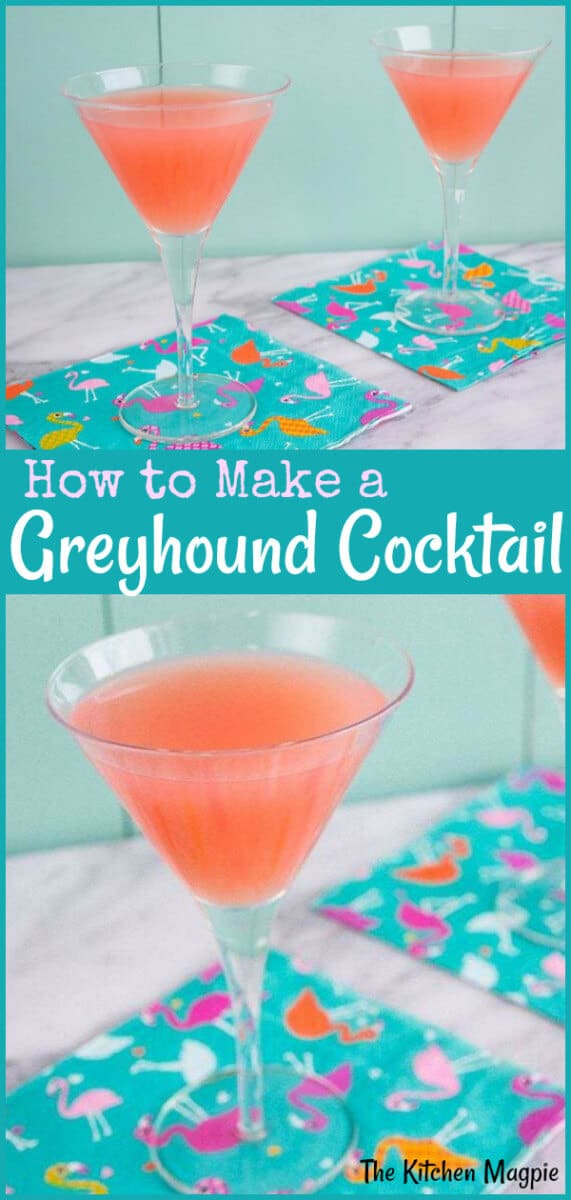 Get the perfect Greyhound Cocktail Recipe, the light and refreshing drink that was a favorite of Mad Men character, Roger Sterling.. #grapefruit #cocktail #vodka
