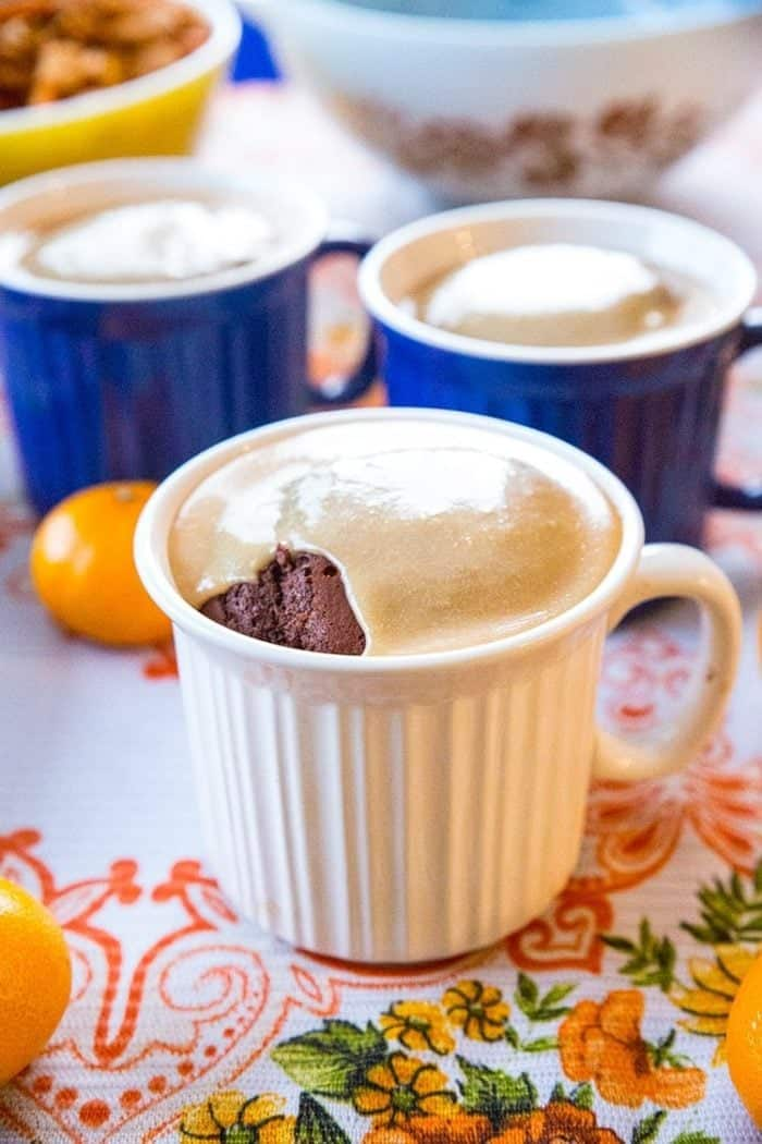 Salted Caramel Gingerbread in a Mug