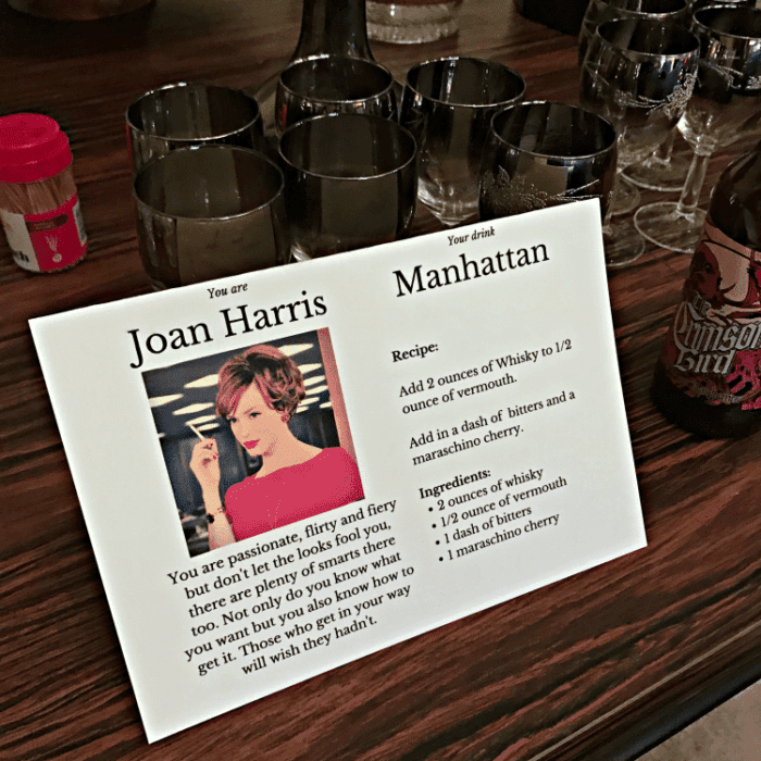 Joan Harris from Mad Men Manhattan recipe