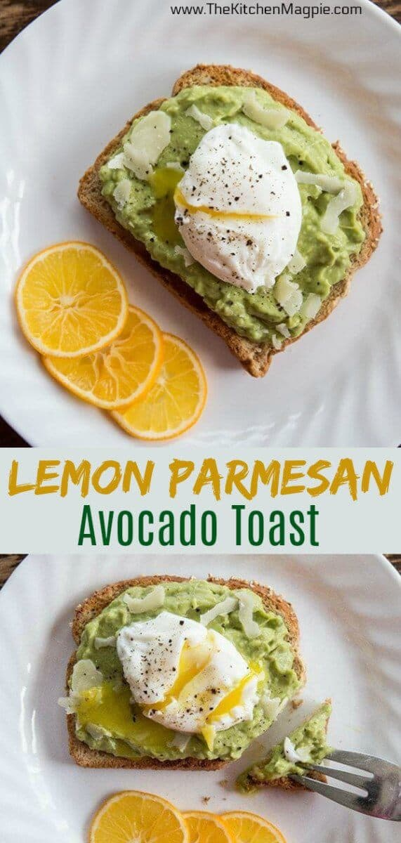 This is the perfect avocado toast recipe : easy, healthy and delicious! You use lemon juice and Parmesan cheese for a tasty, protein packed meal. #avocadotoast #avocado