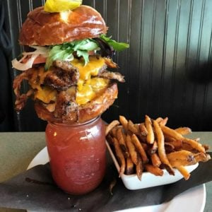 bacon cheeseburger caesar
