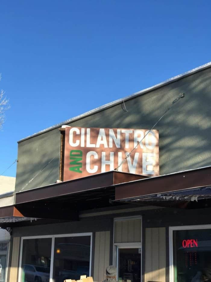 a local eatery named cilantro and chive