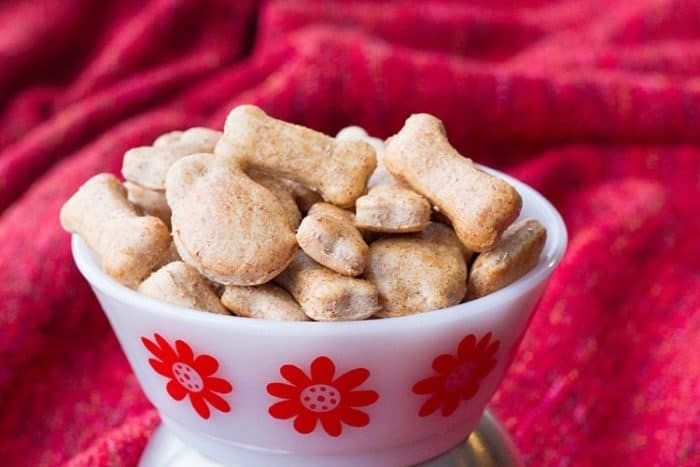 Zoe's Best Cinnamon Apple Homemade Dog Treats for dogs with sensitive stomachs.