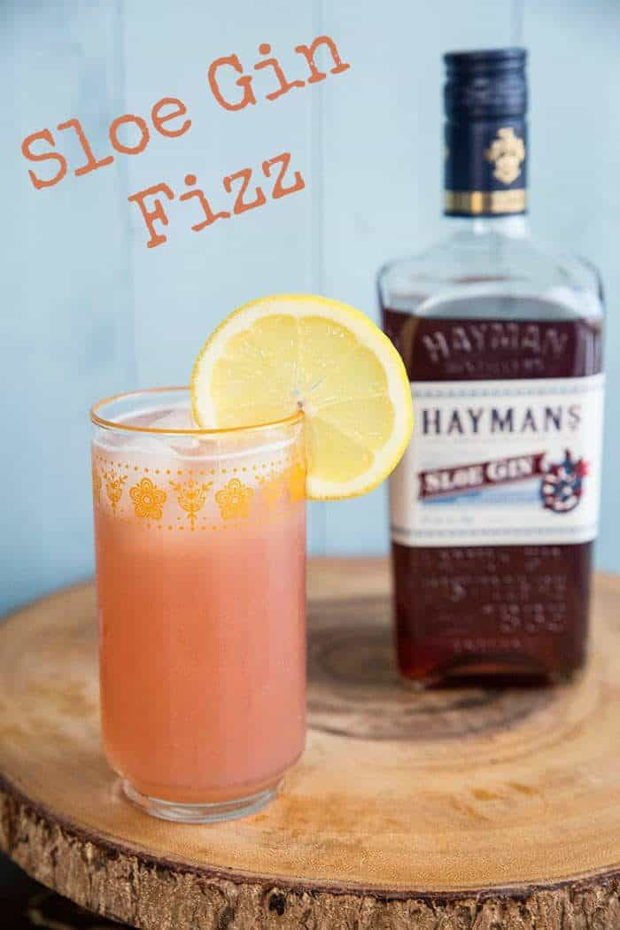 Sloe gin fizz recipe! Light and refreshing, this retro drink is making a huge comeback!