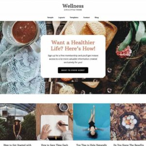 collage of themes showing healthy lifestyle