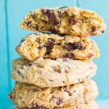 Walnut Loaded Chunky Chocolate Chip Cookies