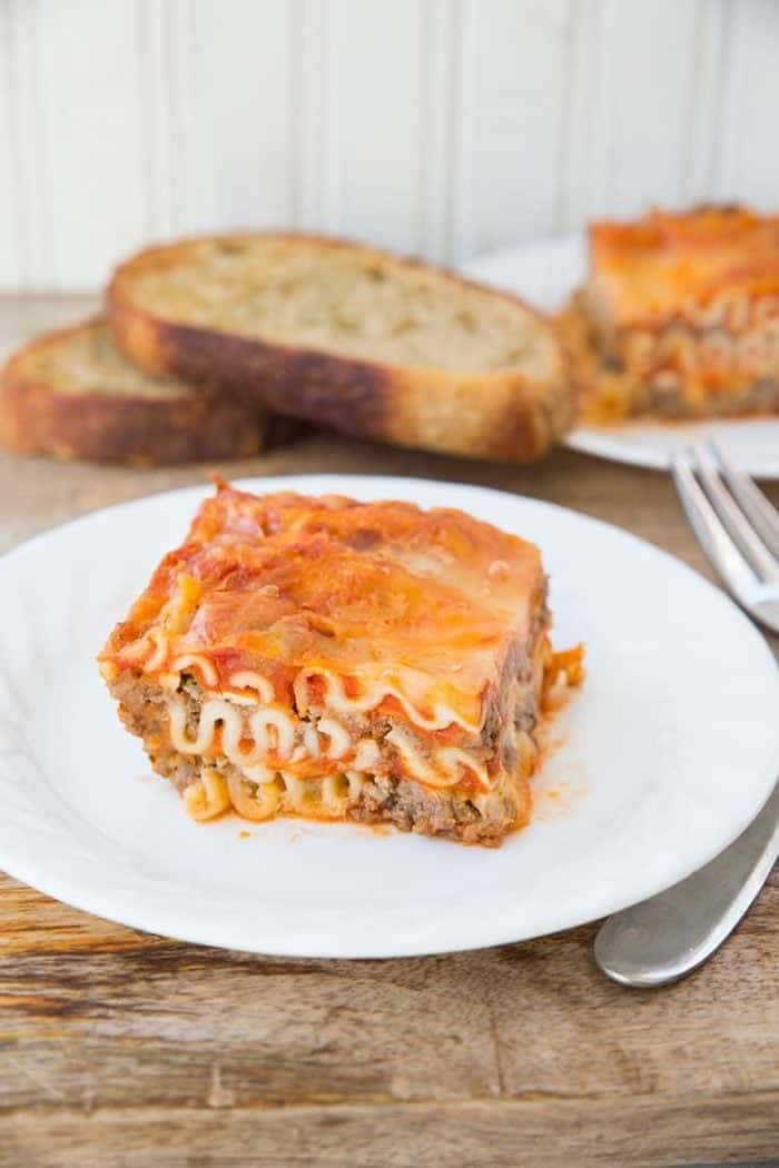 Mom's Cottage Cheese Lasagna, a retro favourite! From @kitchenmagpie