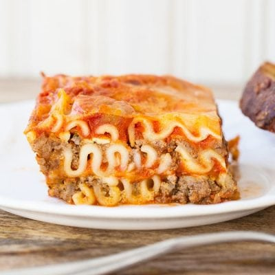 Mom's Cottage Cheese Lasagna