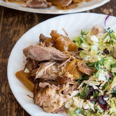 Crockpot Apple Juice Pulled Pork Recipe & Video