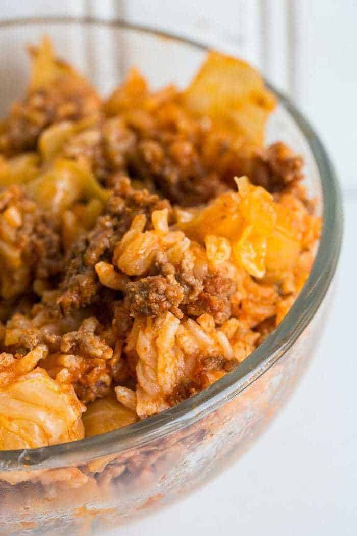 Lazy Cabbage Roll Casserole from @kitchenmagpie