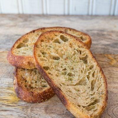 Homemade Garlic Bread Recipe – Using Sourdough!