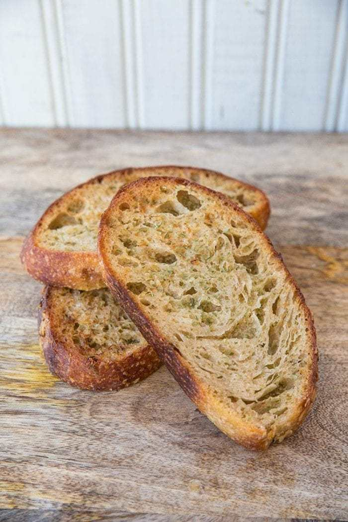 Homemade Garlic Bread Recipe - Using Sourdough! From @kitchenmagpie