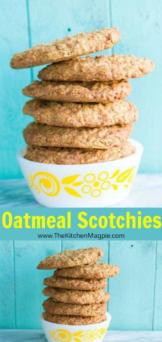 Butterscotch Oaties Cookies or Oatmeal Scotchies Cookies are a delicious old-fashioned cookie using oatmeal and butterscotch baking morsels! #oatmeal #cookies #scotchies