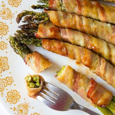 Brown Sugar Bacon Wrapped Asparagus Bundles
