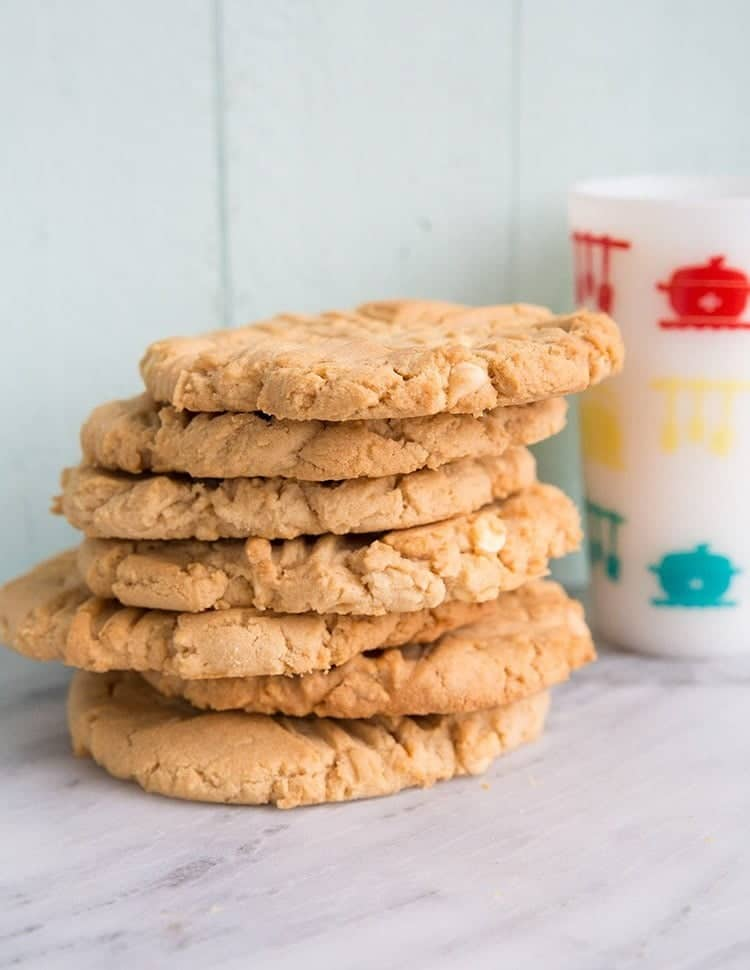 Double Peanut Butter & White Chocolate Chunk Cookies From All the ...