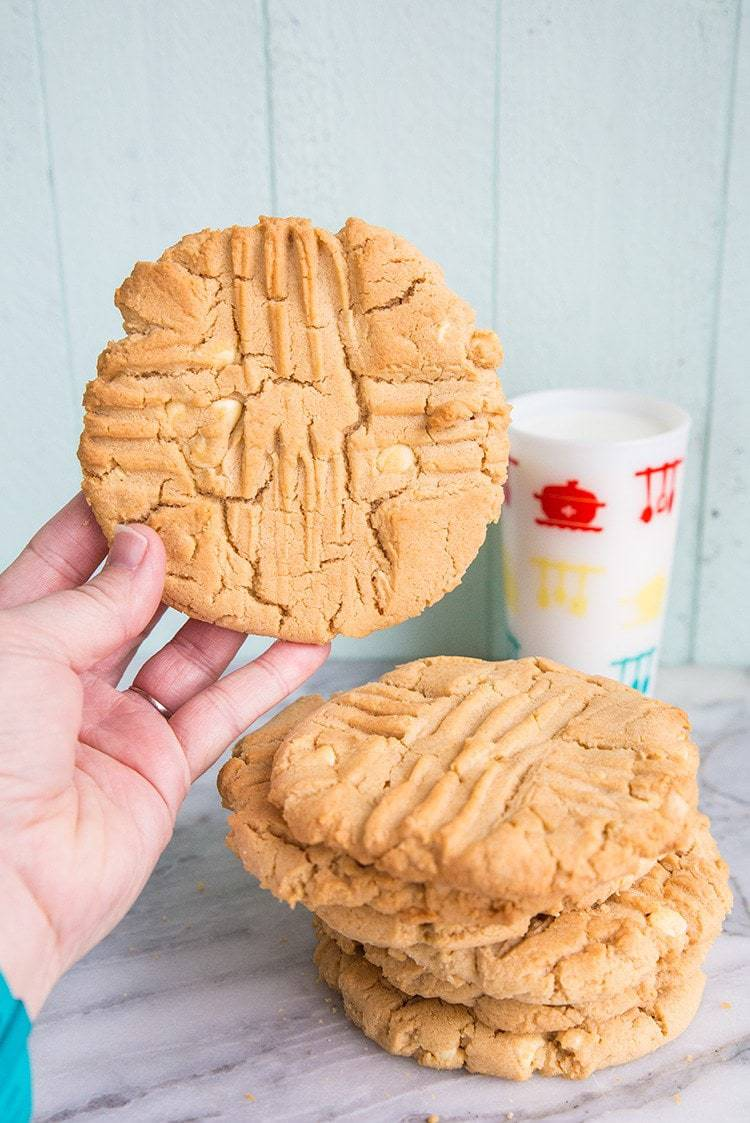 Double Peanut Butter & White Chocolate Chunk Cookies From ...