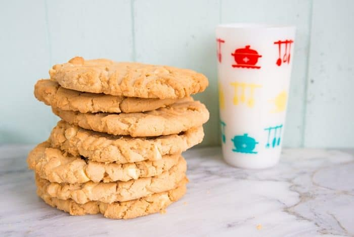 Double Peanut Butter & White Chocolate Chunk Cookies