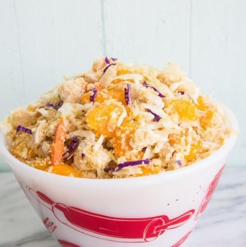 Ginger Citrus Chicken Couscous Coleslaw