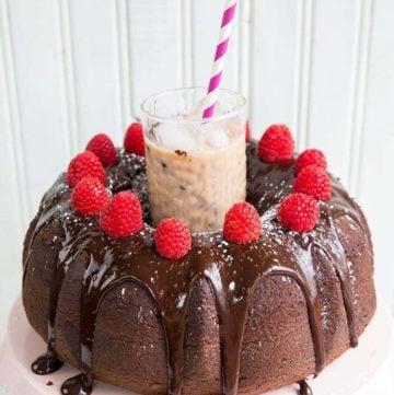 Raspberry Kahlua Mudslide Cake
