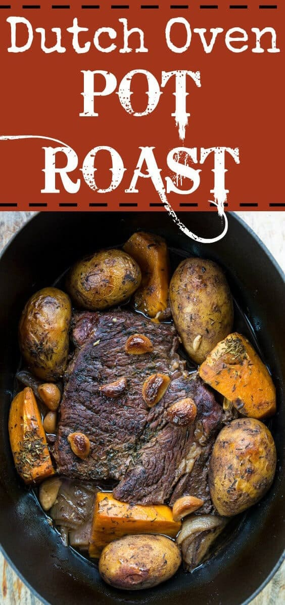 How to make a Dutch Oven Pot Roast. I must admit, this is the best way to make a pot roast! I love my crock pot but a dutch oven really makes the best pot roasts! #potroast #beef #dutchoven