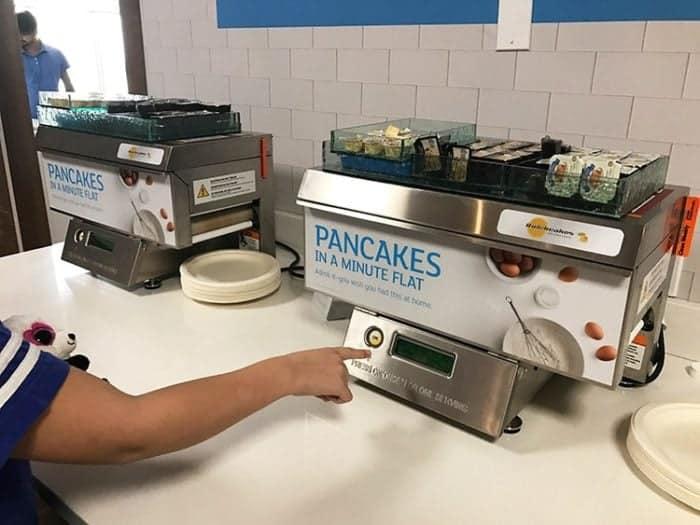 pancakes in a flat machine