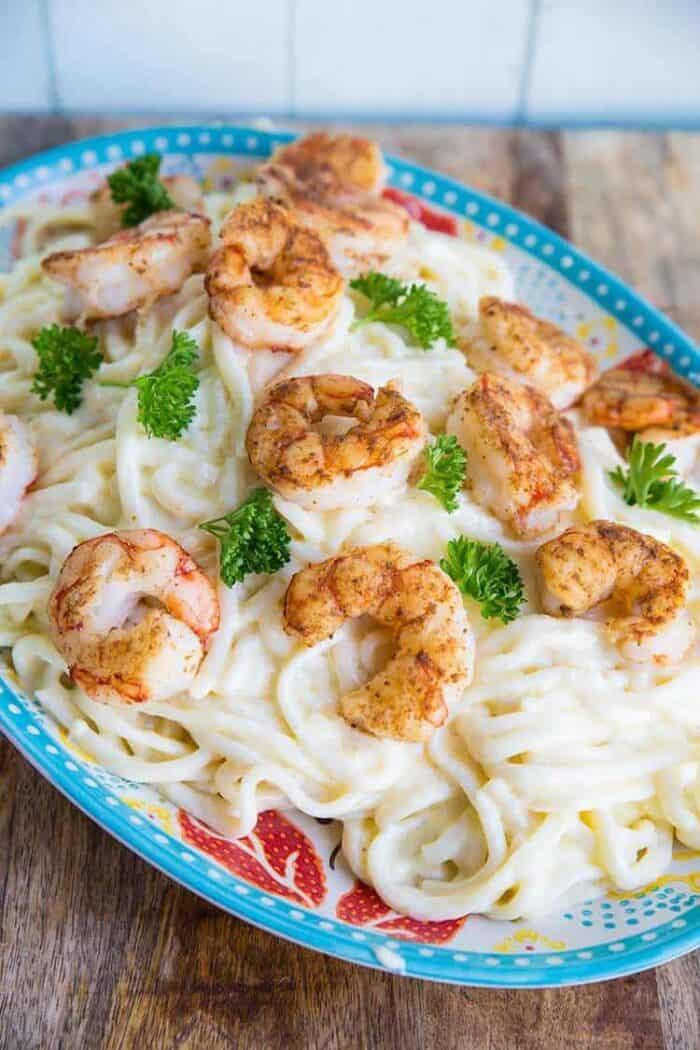 How to make homemade Shrimp Fettucine Alfredo from @kitchenmagpie